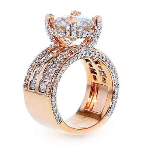 Lustour premium lab-created ring