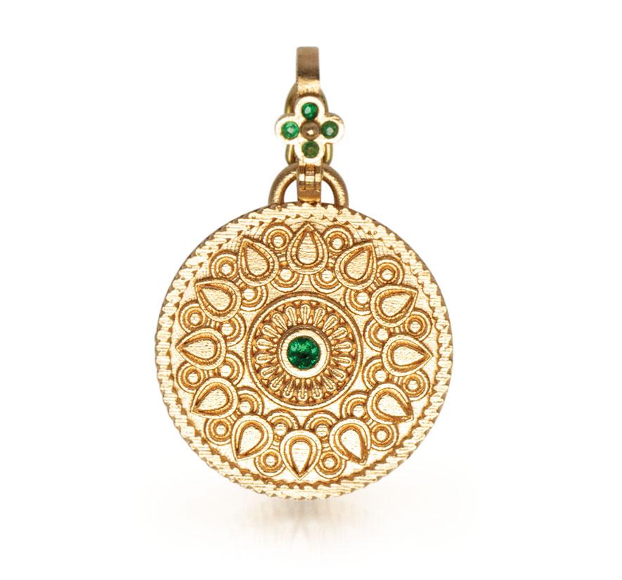 Orly Marcel 18K gold Mandala pendant