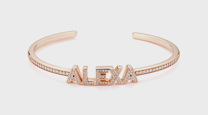 Dana Rebecca Designs 14K rose gold and diamond bracelet