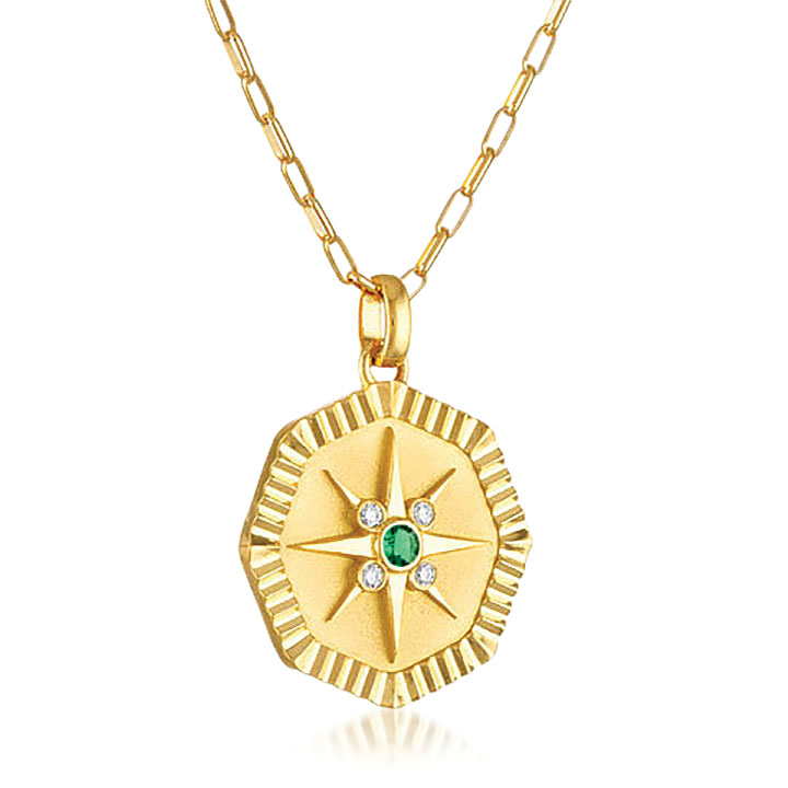 Pamela Zamore Octagon star pendant