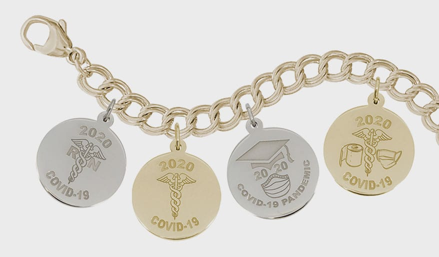 Rembrandt COVID-19 charms