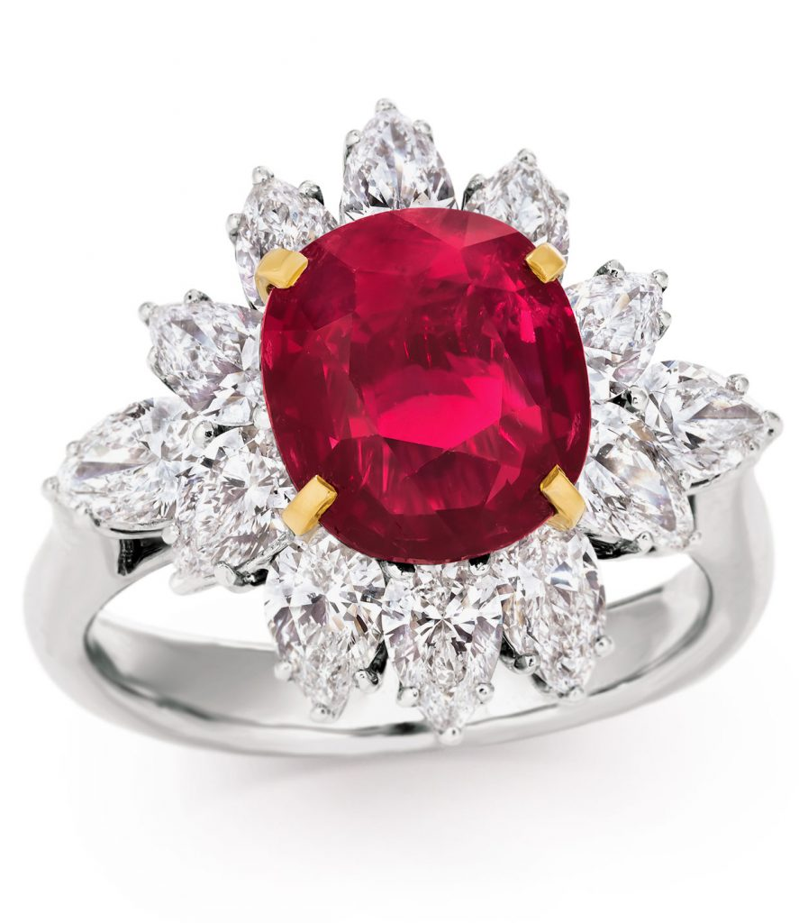 Jane Magon Collections 4.09-carat natural Burmese Mogok ruby set