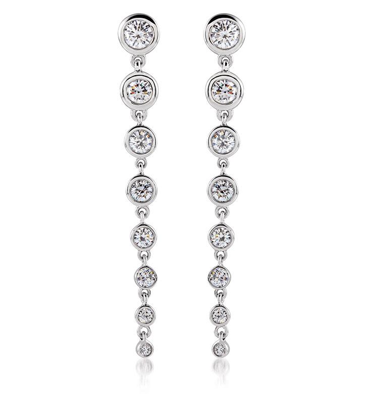 Stuller 14K white gold lab-grown diamond earrings