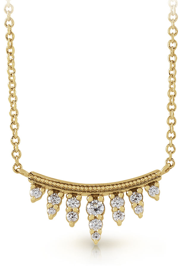 Stuller 14K yellow gold 18-inch necklace with diamond bar