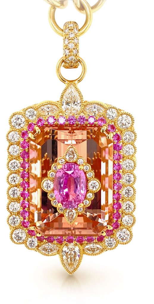 Erica Courtney 18K yellow gold pendant