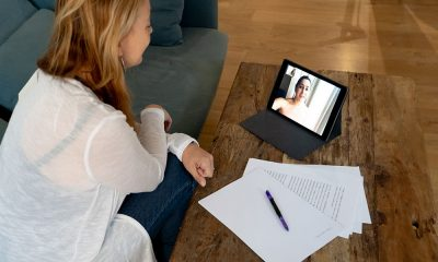woman video conference