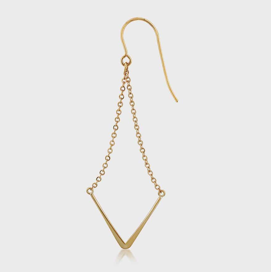 Carla/Nancy B drop earrings in 14K yellow gold