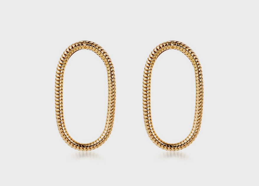 Fernando Jorge single chain short earrings in 18K yellow gold