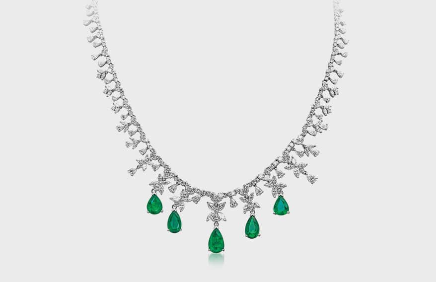 Timeless emerald necklace from JYE's International