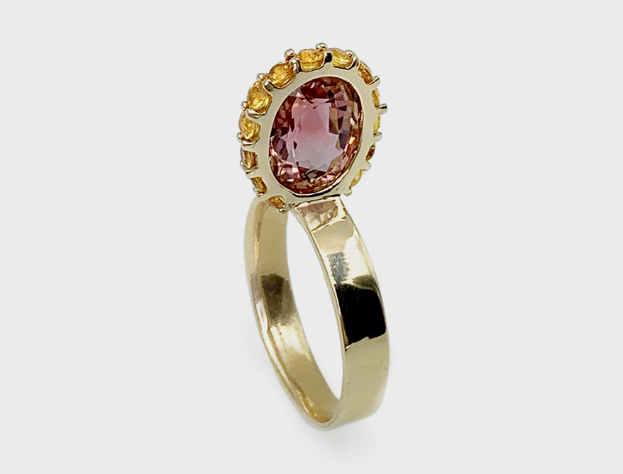 Leslie Paige Smith halo ring