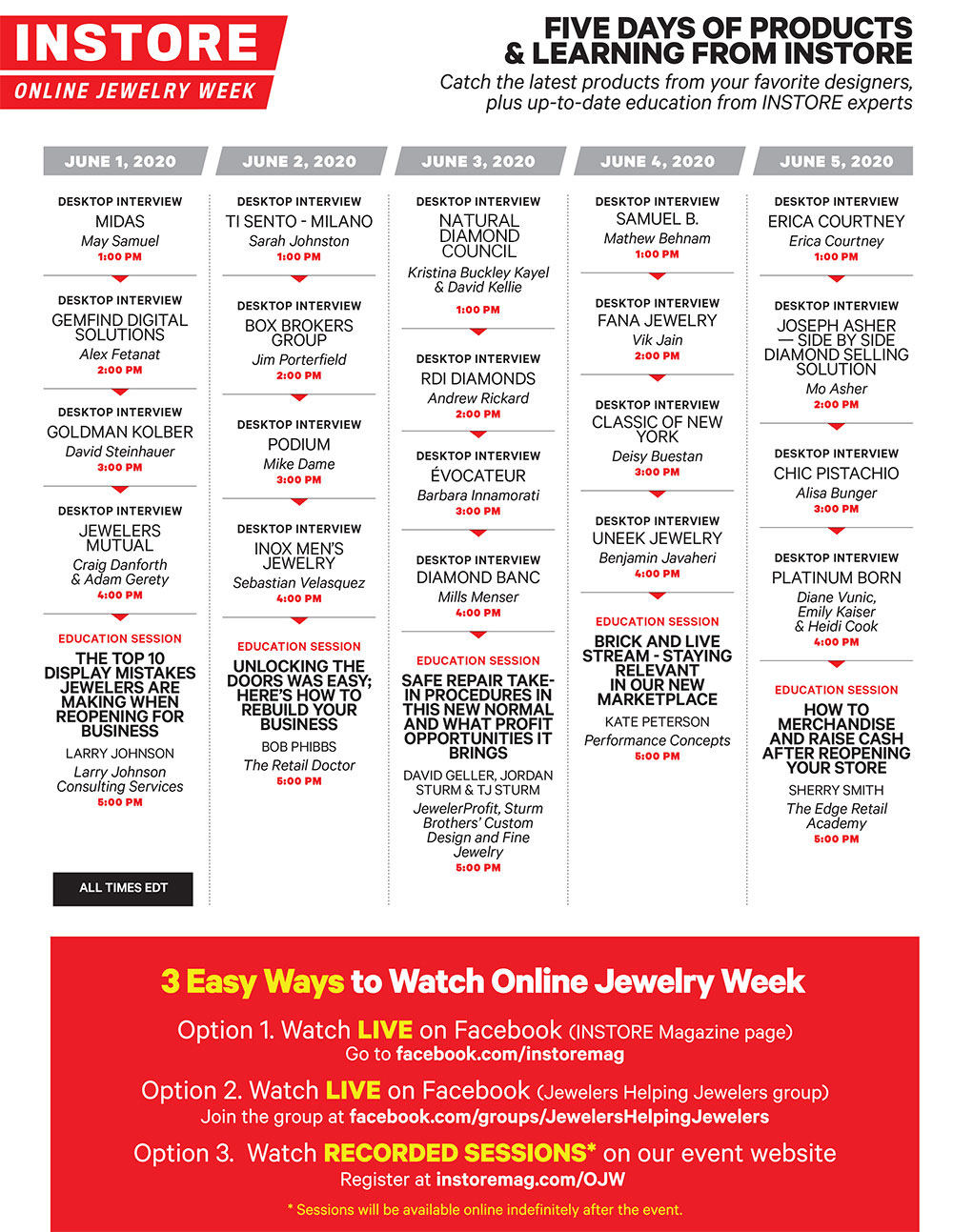 INSTORE Online Jewelry Week: Vegas Jewelry Shows … in Your Living Room