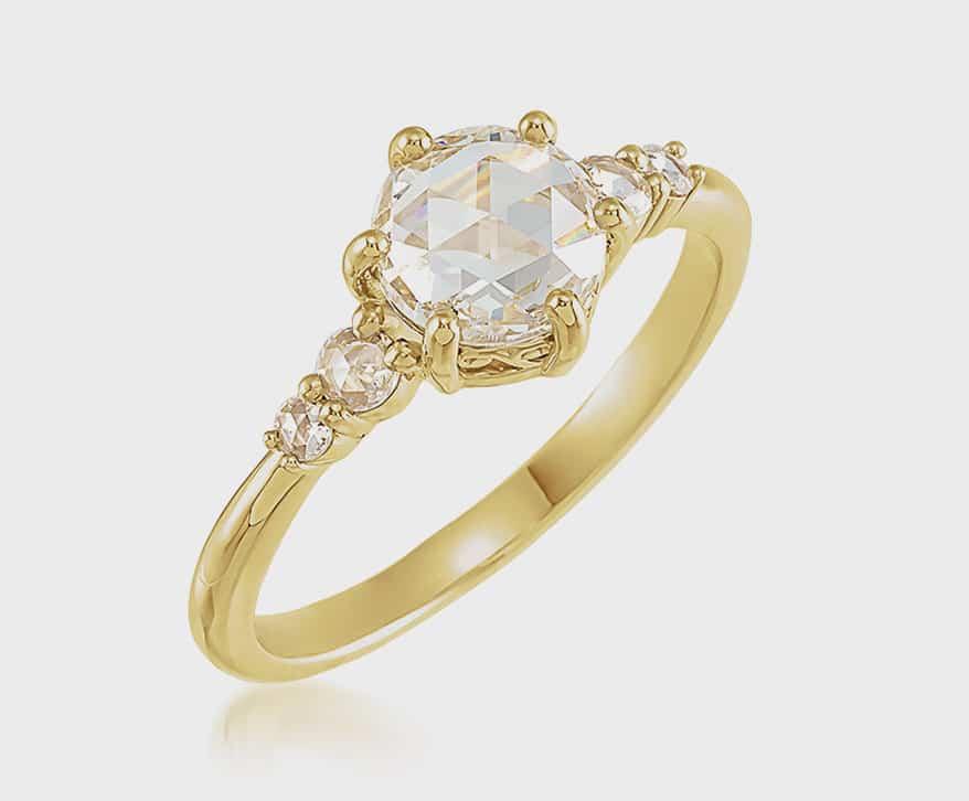 Stuller vintage-inspired semi-set engagement ring