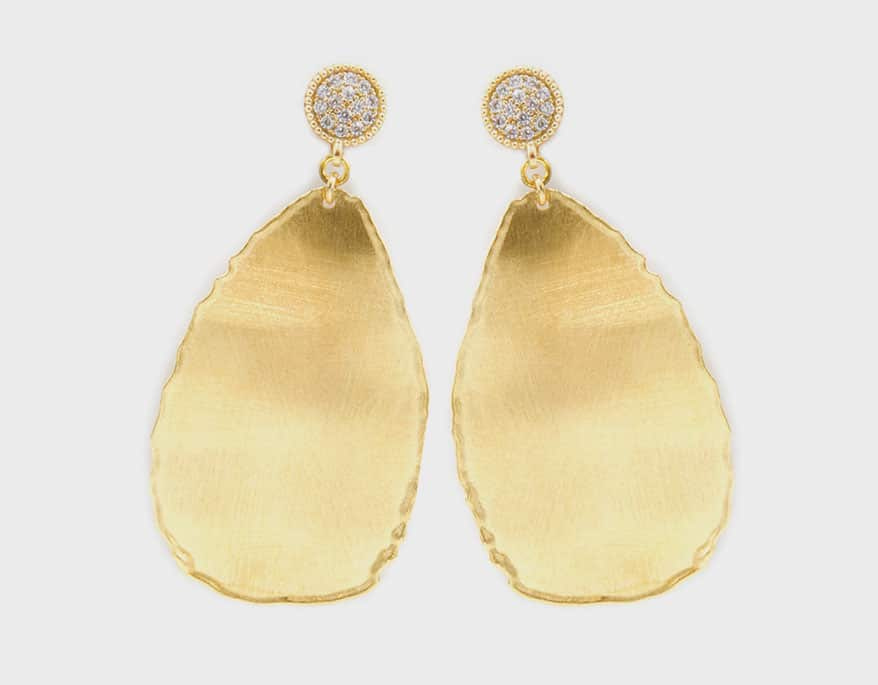 Oblong-shaped drop earrings from The Henderson Collection's Desert Dreams