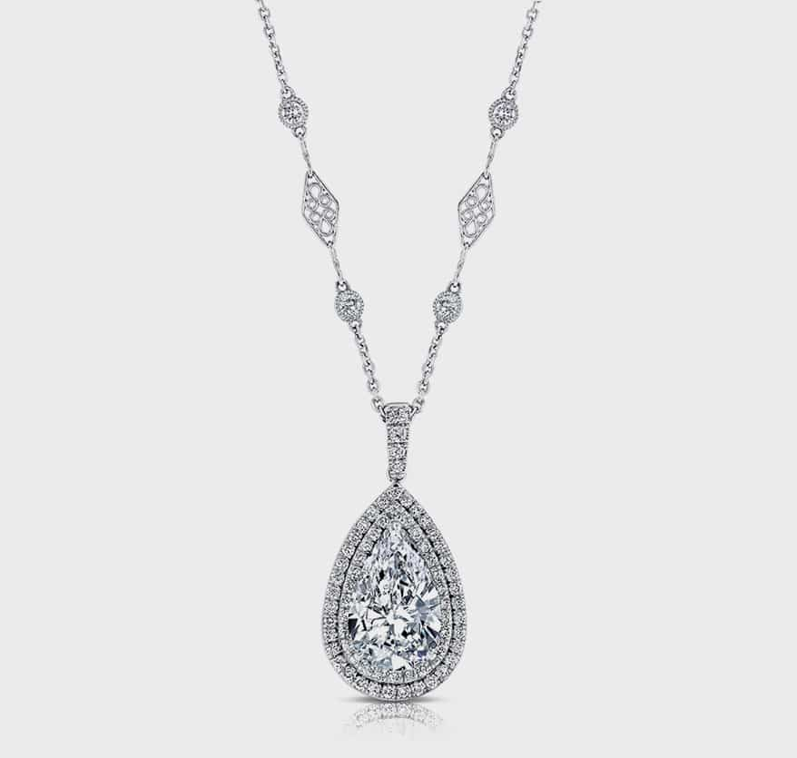 Uneek Jewelry 18k white gold pendant necklace