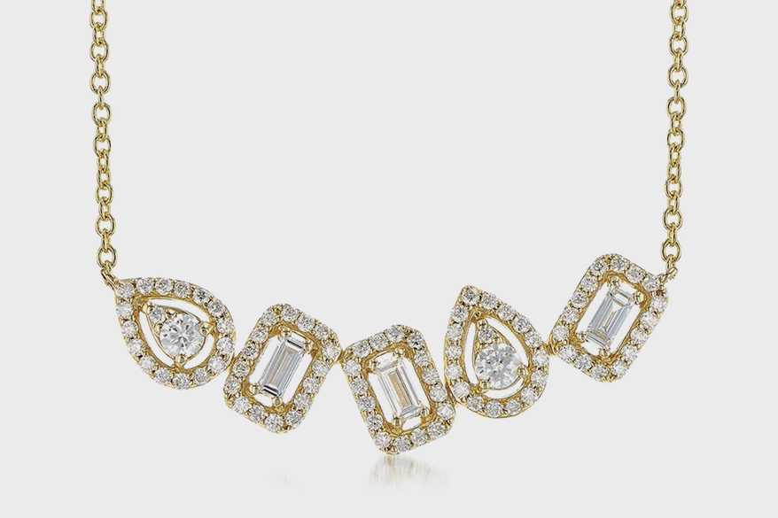 Allison-Kaufman Co. 14K yellow gold necklace with diamonds