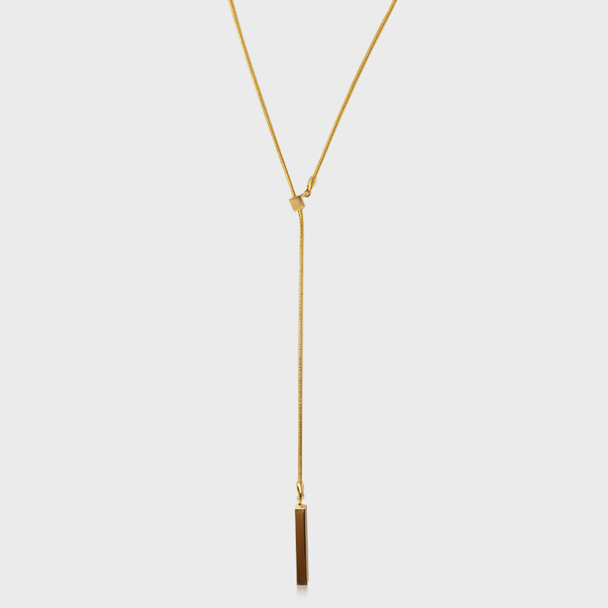 Via Saviene Necklace with 23K yellow gold plating over brass