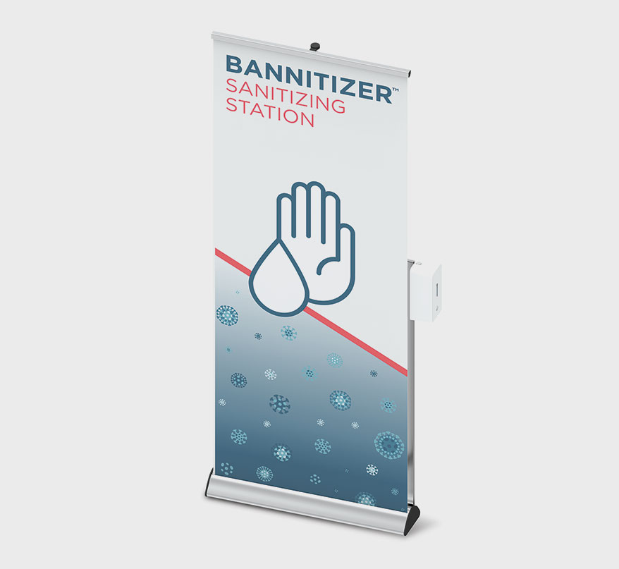 Bannitizer Stand from Productive Displays