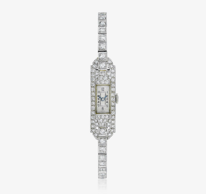 Lot 1008, Billie Holiday Fine Diamond Watch in Platinum
