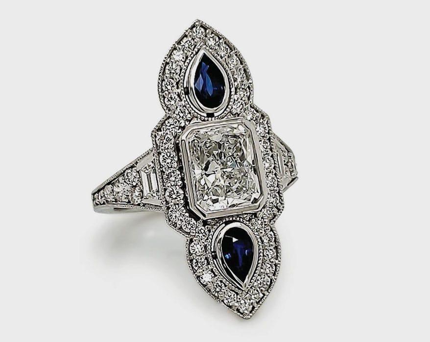 14k Art Deco ring by David Dorian