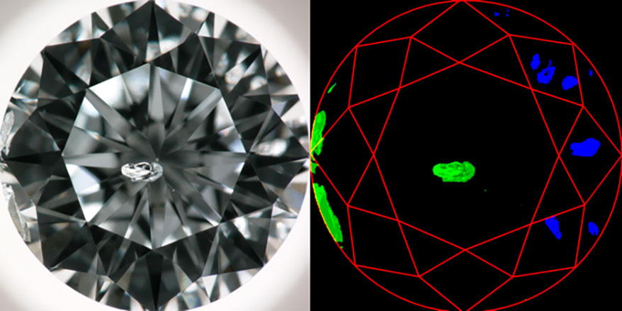 GIA and IBM diamond grading