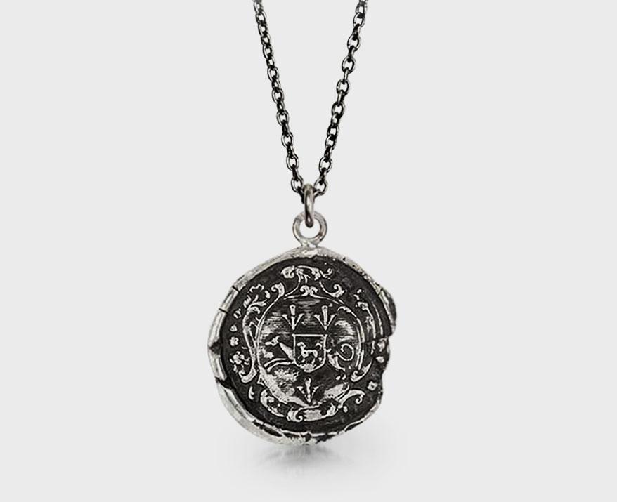Pyrrha sterling silver talisman necklace