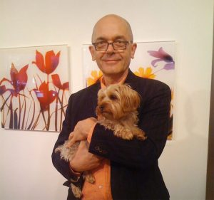 Store mascot Harry Winston with designer Alex Sepkus