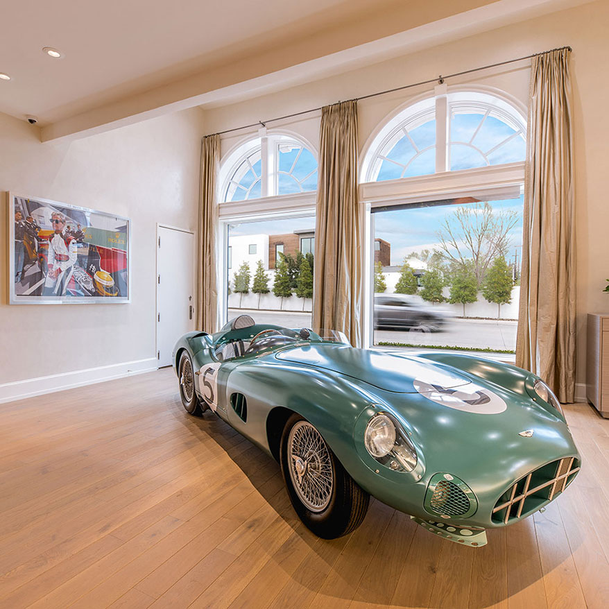 A replica of the 1959 Le Mans-winning race car is on permanent display.