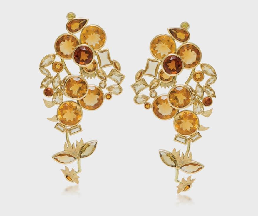 """Van Gogh's Sunflower Earrings"" by Larissa Moraes"