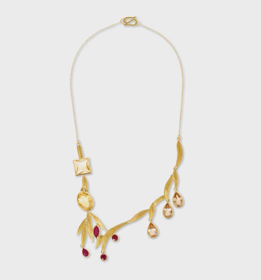 """""""Van Gogh's Gladioli Necklace"""" by Larissa Moraes"""