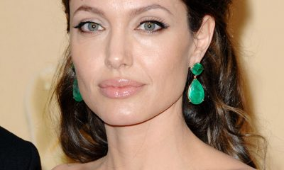 Angelina Jolie in Lorraine Schwartz earrings at the 81st Academy Awards