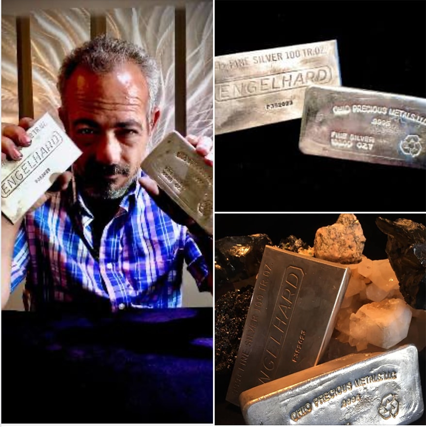 Johnny Perri with silver bars