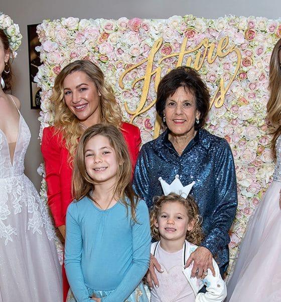 Models wear Hayley Paige wedding gowns