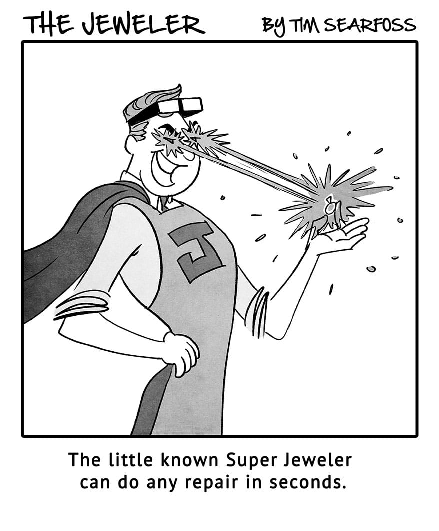 Cartoon: The Jeweler Shows Off One of His Many Superpowers