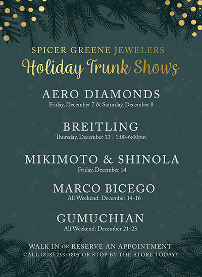 Spicer Greene Jewelers trunk show invitation