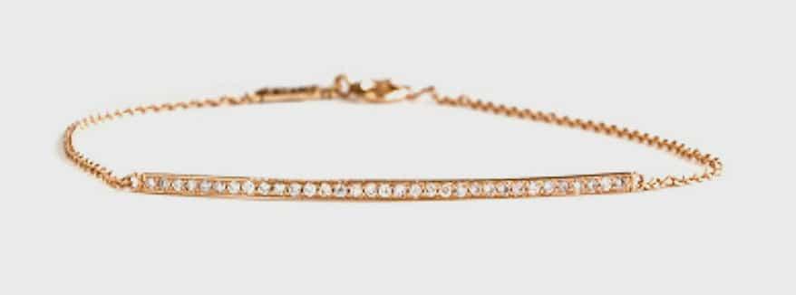 Grace Lee  Diamond bar bracelet in 14K gold.