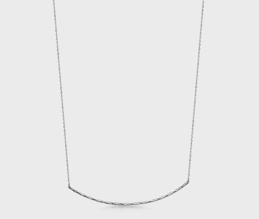 Platinum necklace.