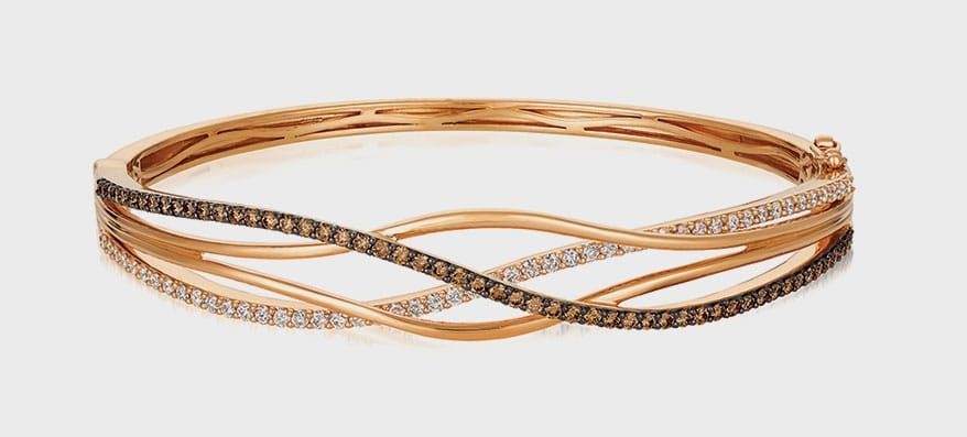 Le Vian 14K rose gold bangle with diamonds