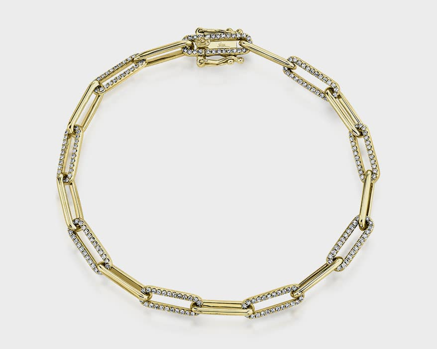 Shy Creation 14K yellow gold bracelet with diamonds