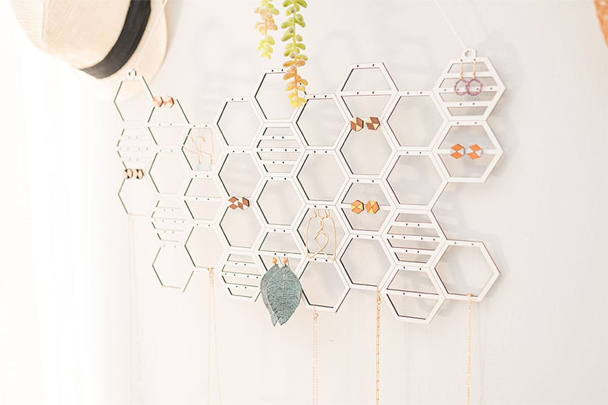 honeycomb jewelry display from Oak Knoll Creations