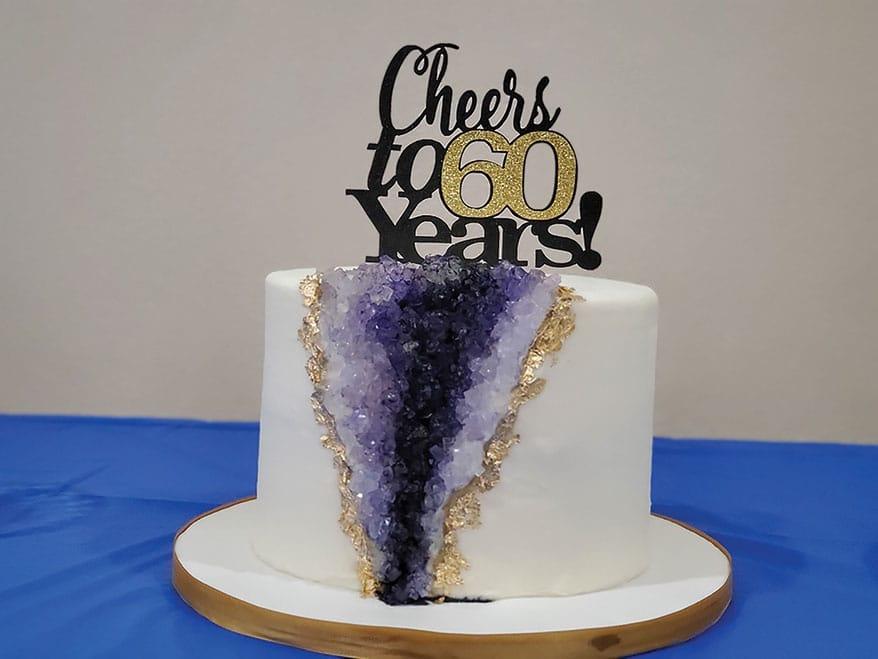 60 years cake