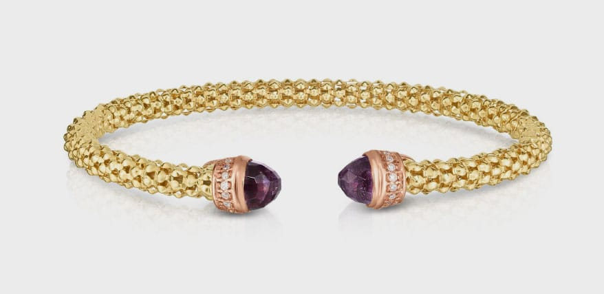 diamond and amethyst bracelet from Royal Chain and Barbara Parker's Diamond Vault