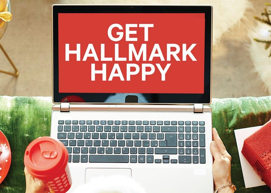 Get Hallmark happy on laptop screen