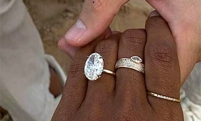 Model Jasmine Tookes engagement ring