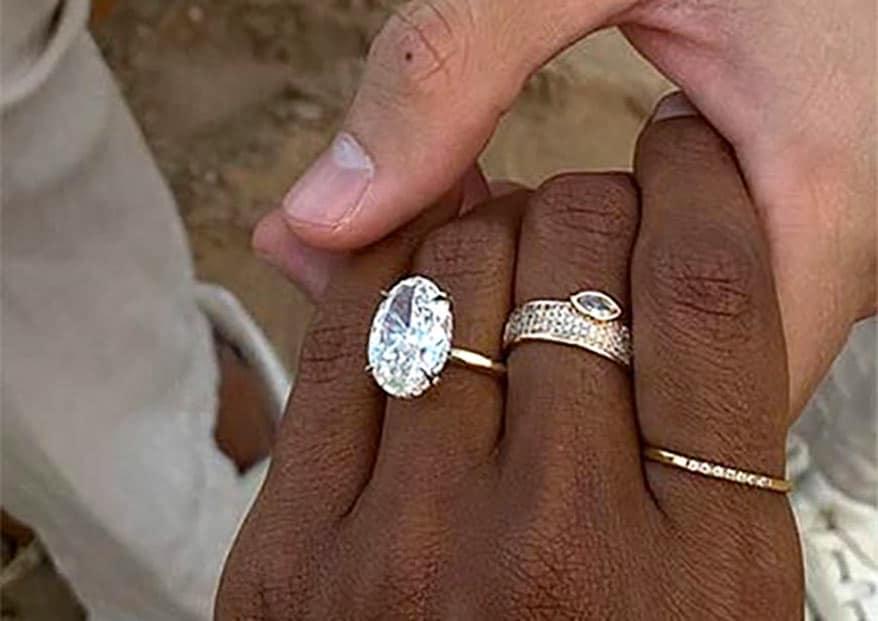 Model Jasmine Tookes engagement ring