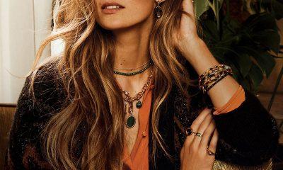 Model featuring Ti-Sento Milano bracelets