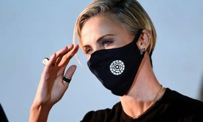 Charlize Theron at drive-in screening of Mad Max: Fury Road in Los Angeles