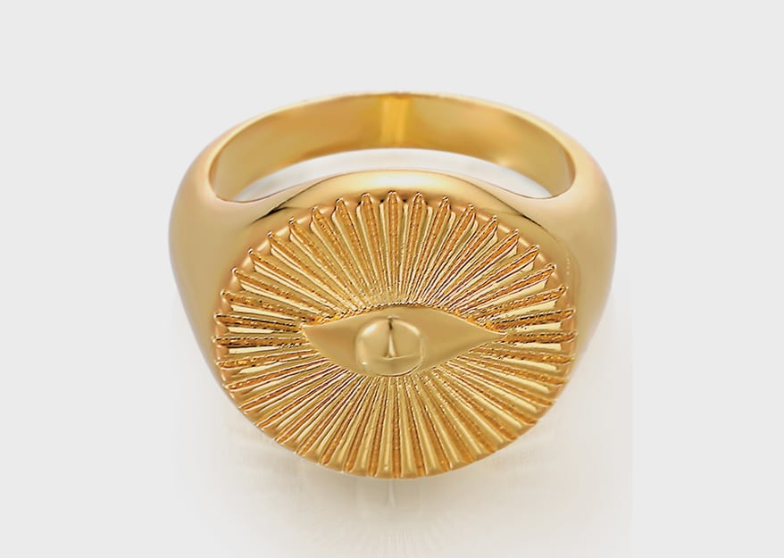Celeste Starre 18K yellow gold-plated ring in brass