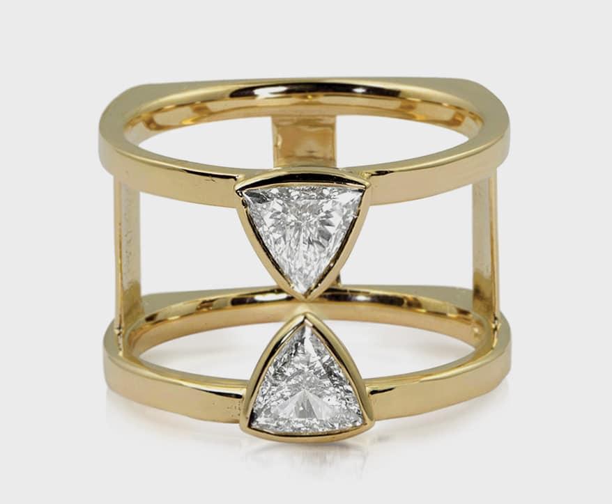 Julez Bryant 14K yellow gold ring with diamonds