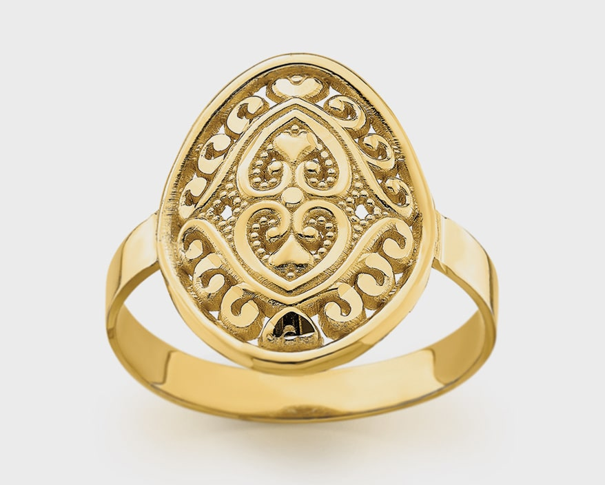 Quality Gold 14K yellow gold ring