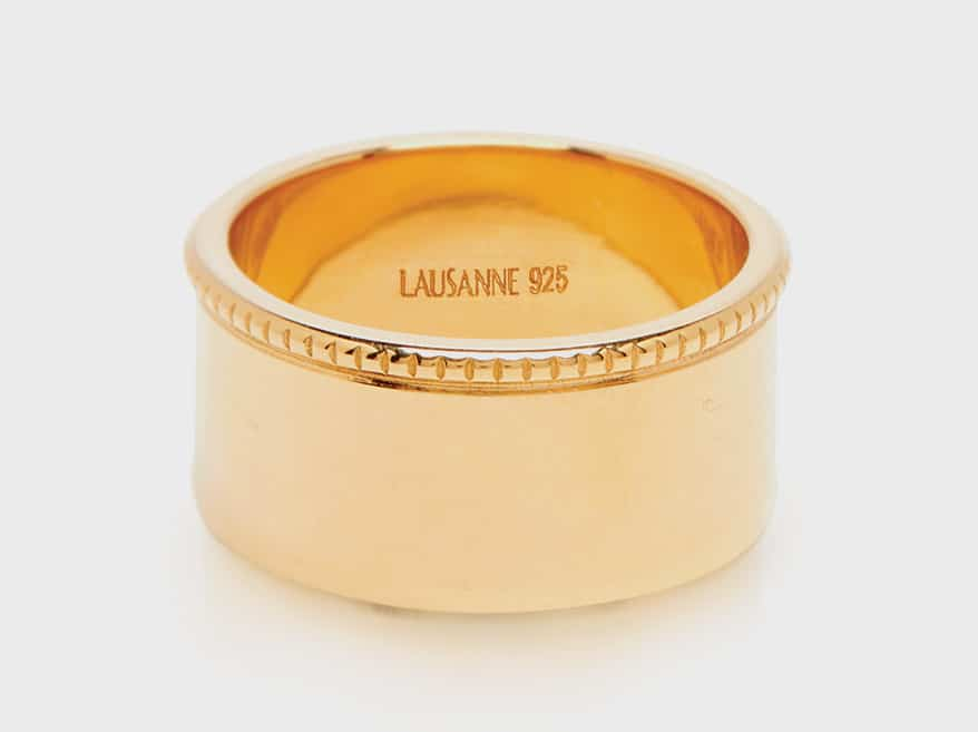 Lausanne Jewelry 14K yellow gold vermeil ring